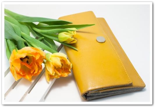 開運 整理 お財布フリフリ さいふをカラにする 開運財布 黄色 お金がたまる財布