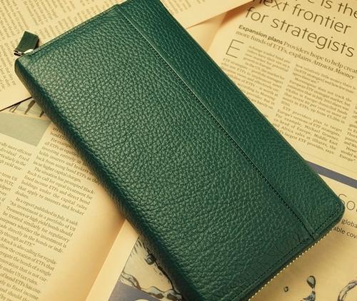 グリーン 緑 みどり 色 長財布 さいふ 開運 金色3